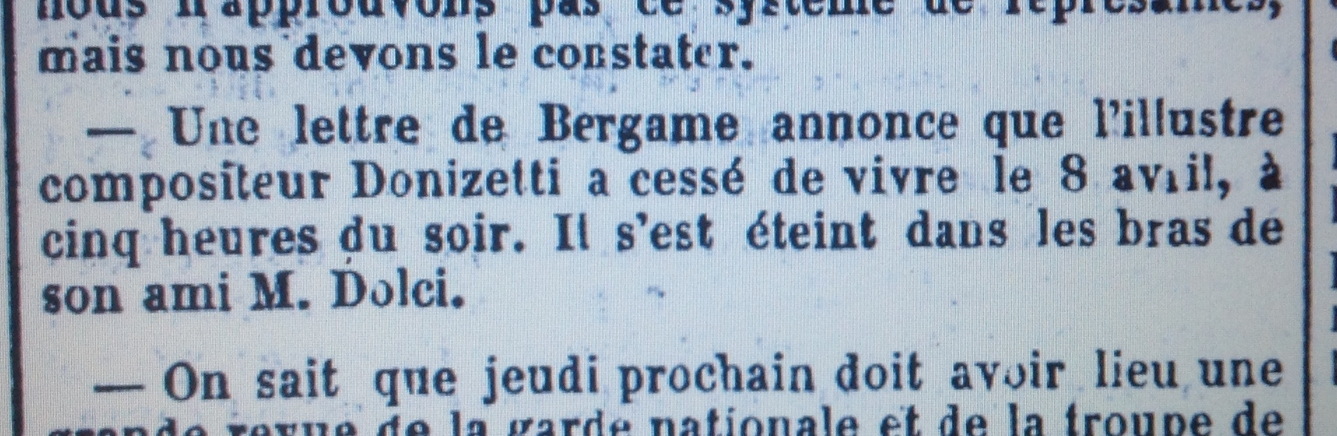 donis tod, jdd 18 4 1848